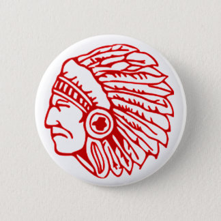 Indianer-roter Inder Runder Button 5,1 Cm
