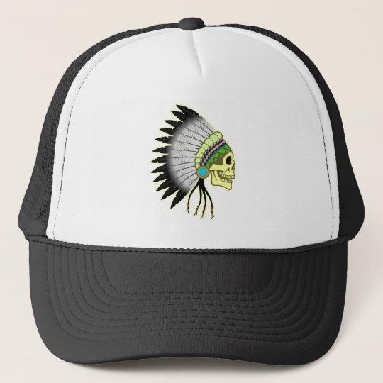 Indianer Totenkopf Häuptling skull chief Truckerkappe