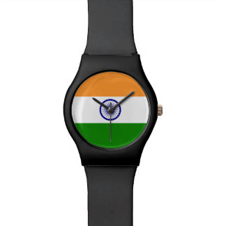 Indien-Flagge Armbanduhr
