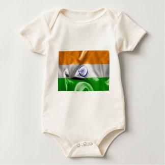 Indien-Flagge Baby Strampler