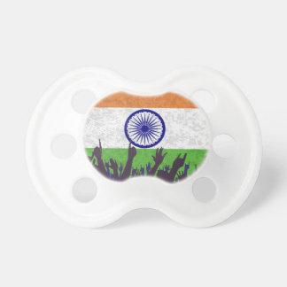 Indien-Flagge mit Publikum Schnuller