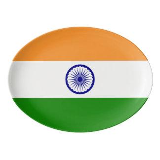 Indien-Flagge Porzellan Servierplatte
