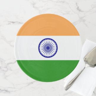 Indien-Flagge Tortenplatte