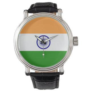Indien-Flagge Uhr