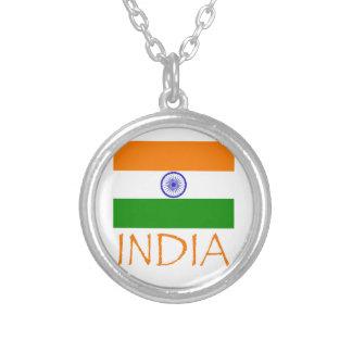 Indien-Flagge Versilberte Kette