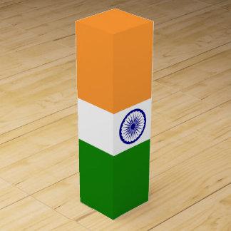 Indien-Flagge Wein-Geschenkverpackung