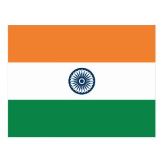 Indien-Flaggen-Postkarte Postkarte