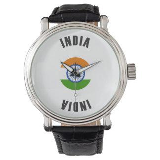 Indien-Flaggen-Rad Armbanduhr