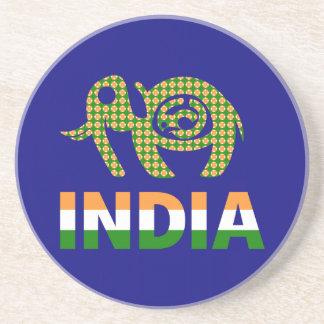 Indien, gemalter Elefant Getränkeuntersetzer