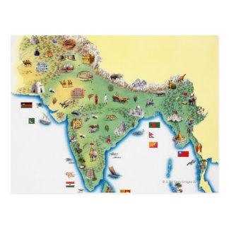 Indien, Karte mit dem Illustrationsdarstellen