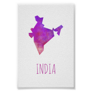 Indien-Karte Poster
