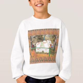 Indien-Kunsthandwerk zeigt heilige Kuhstatue Sweatshirt