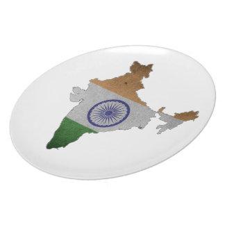 Indien-Landesflagge Melaminteller
