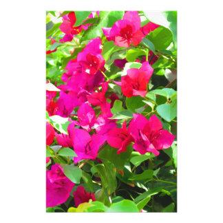Indien-Reise-Blumen-Bouganvilla-Blumenemblem Briefpapier