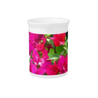 Indien-Reise-Blumen-Bouganvilla-Blumenemblem Getränke Pitcher