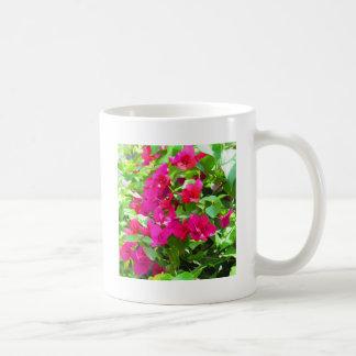 Indien-Reise-Blumen-Bouganvilla-Blumenemblem Kaffeetasse