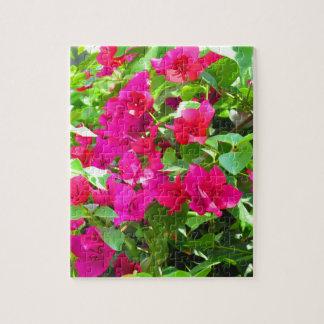 Indien-Reise-Blumen-Bouganvilla-Blumenemblem Puzzle