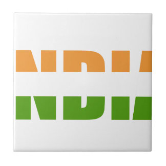 INDIEN-Text-Flagge Fliese