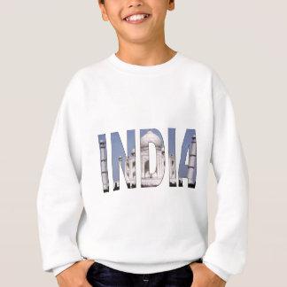 INDIEN-Text über Taj Mahal Sweatshirt
