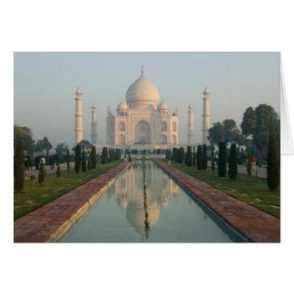 INDIEN, Uttar Pradesh, Agra: Taj Mahal, Morgen Karte