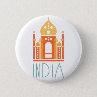 Indien-Yoga Runder Button 5,1 Cm