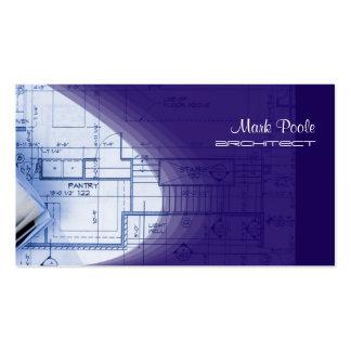 Indigo-Blau-Architekten-Visitenkarten