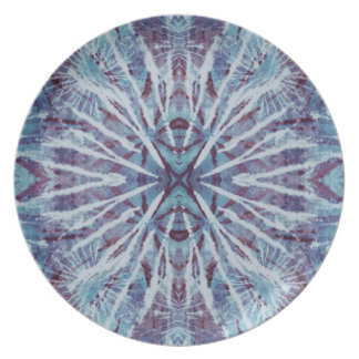 Indigo-Blau-gefärbte Krawatte Flache Teller