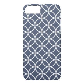 Indigo-Blau-geometrischer Gitter iPhone 6 Fall iPhone 8/7 Hülle