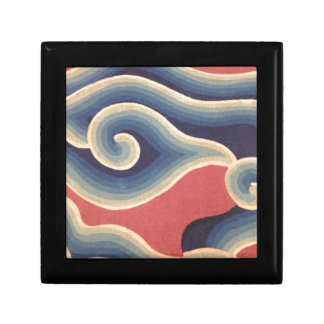 Indigo-Blau-korallenrote Japaner-Welle Erinnerungskiste