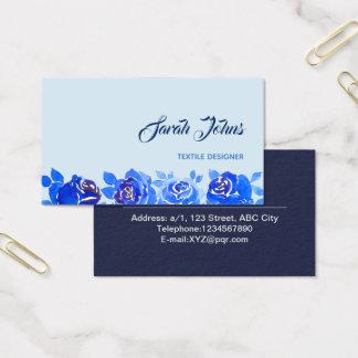 Indigo-Blau-NeonRose im Mitternacht Visitenkarte