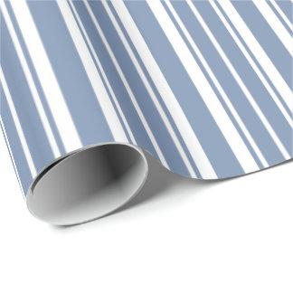 Indigo-Blau, weißes tickendes Streifen-Packpapier Geschenkpapier