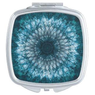 Indigo Blue Mandala Taschenspiegel