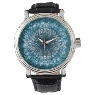Indigo Blue Mandala Uhr