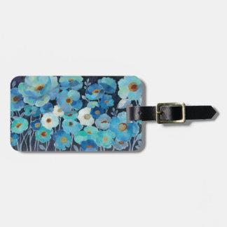 Indigo-Blumen Gepäckanhänger