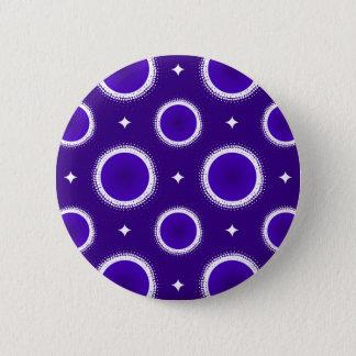 Indigo-Himmel Runder Button 5,1 Cm