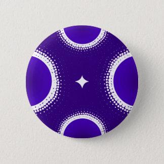 Indigo-Himmel Runder Button 5,7 Cm