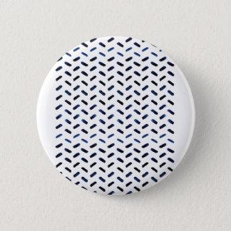 Indigo lines runder button 5,7 cm