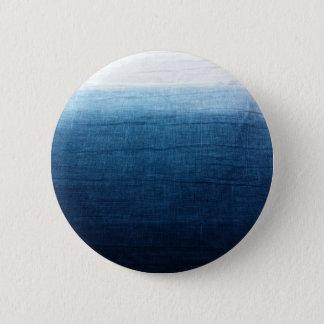 Indigo Ombre verblaßt Bad gefärbtes Shibori Runder Button 5,1 Cm