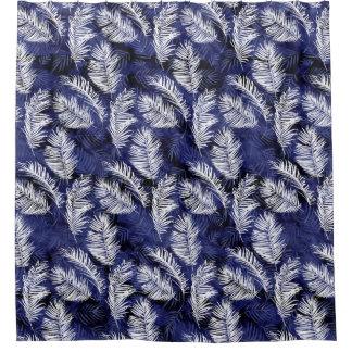Indigo-Palmen Duschvorhang