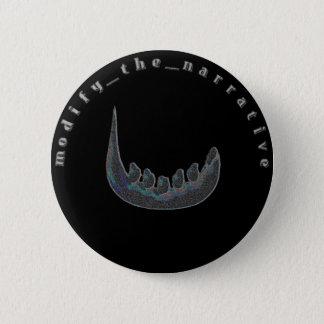 Indigo Tiding verrückter Grinsen (chromatischer) Runder Button 5,1 Cm