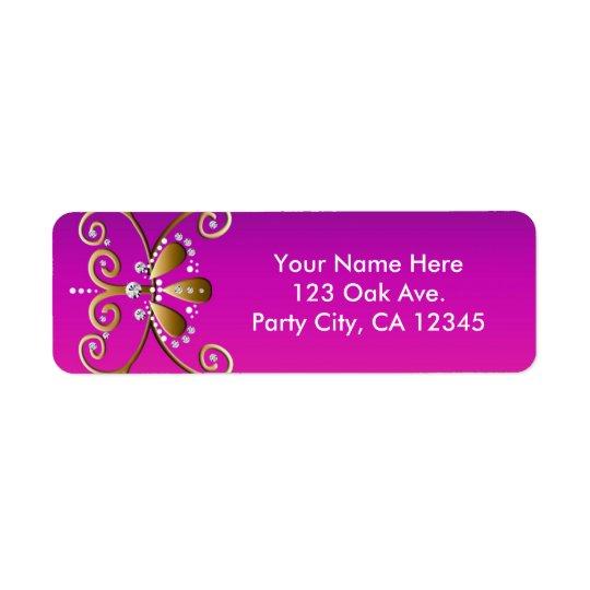 Indische Adressen-Etiketten Prinzessin-Birthday Kleiner Adressaufkleber