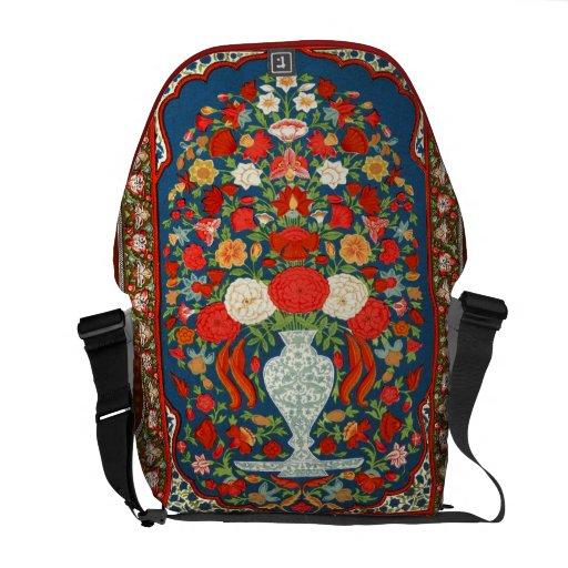 Indische Blumendruck-Rickshaw-Bote-Tasche Kuriertaschen