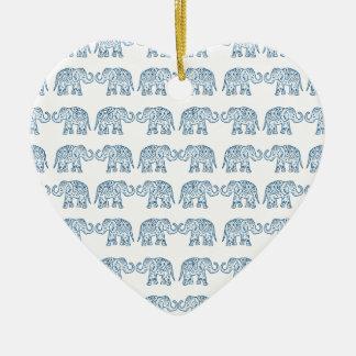 Indische Elefanten Keramik Ornament