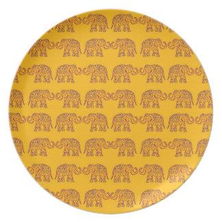 Indische Elefanten Teller