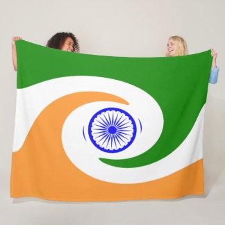 Indische Flagge Fleecedecke