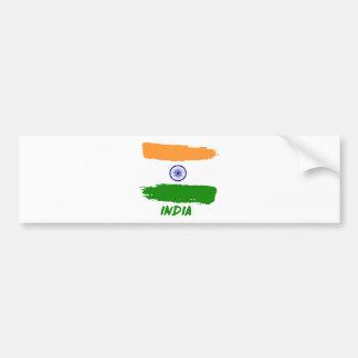 Indische Flaggenentwürfe Autoaufkleber