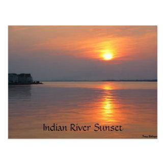 Indische Fluss-Einlass-Meerblick-Postkarte Postkarte