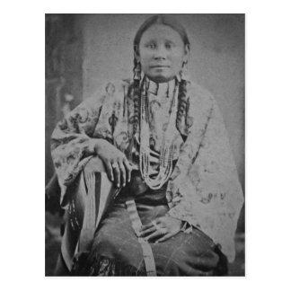 Indische Frau Cheyennes Vintage Stereoview Karte