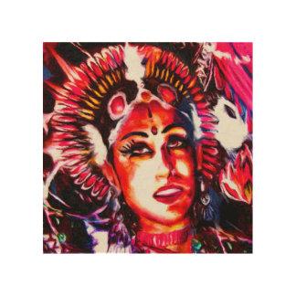 Indische Göttin | Devi Holzdruck