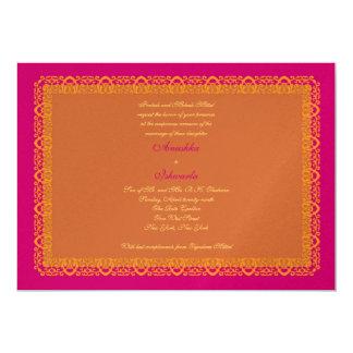 Indische hindische moslemische Hochzeits-Einladung
